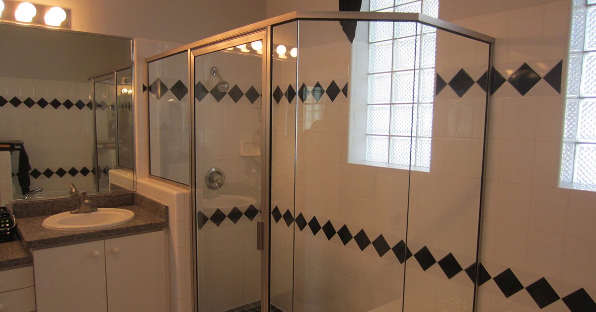 installing a shower door near Volusia County