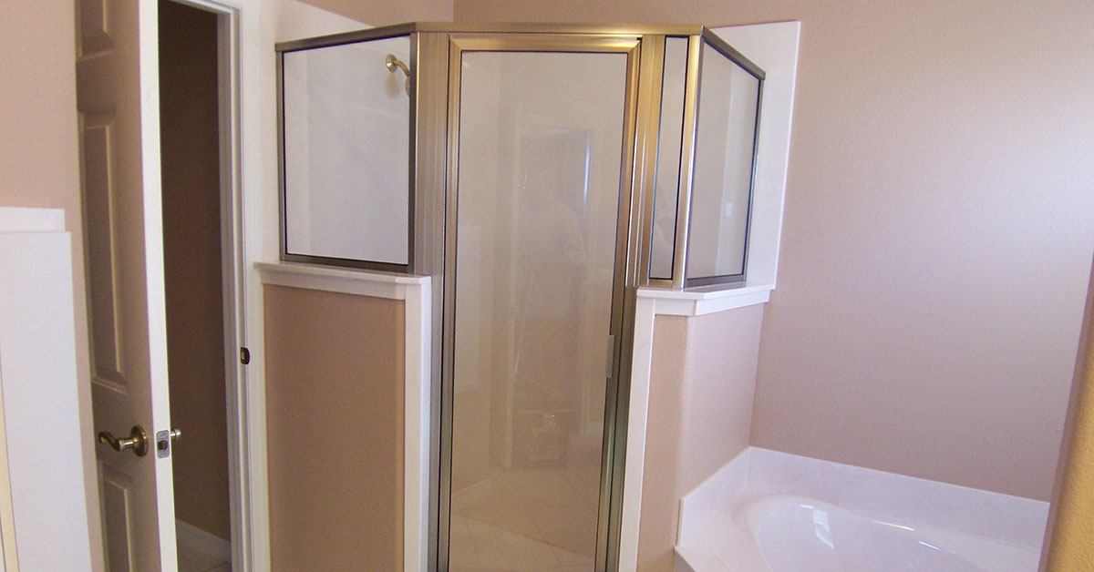 semi frameless shower door in orlando